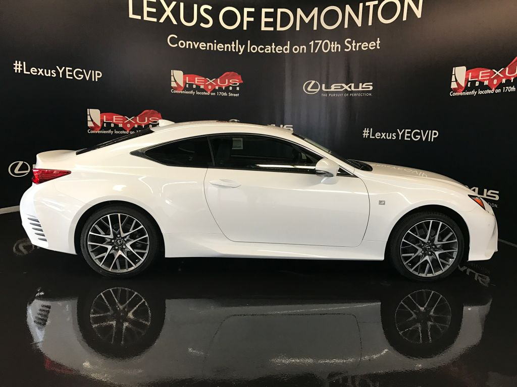 pre owned 2017 lexus rc 350 demo unit f sport series 2 2 door car in edmonton l12382 lexus. Black Bedroom Furniture Sets. Home Design Ideas